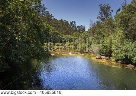 Views Of The River Verdugo. Photo Taken In The Municipality Of Sotomayor, Province Of Pontevedra, Ga