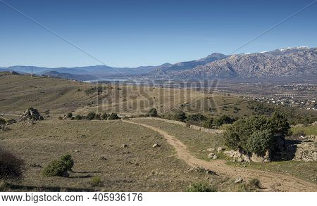 Views Of The Santillana Reservoir From The Saint Peter Peak. Photo Taken In The Municipality Of Colm