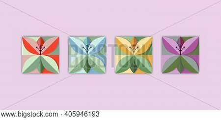 Origami Flowers In Trend Colours