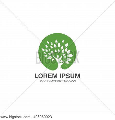People Tree Logo Template Design Vector