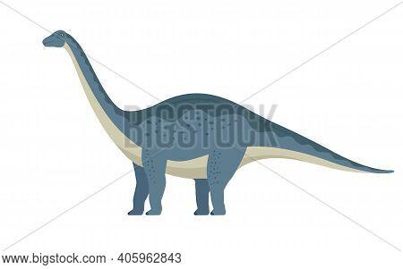 Apatosaurus Dinosaur. Vector Illustration Of A Large Prehistoric Dinosaur Apatosaurus Isolated On A