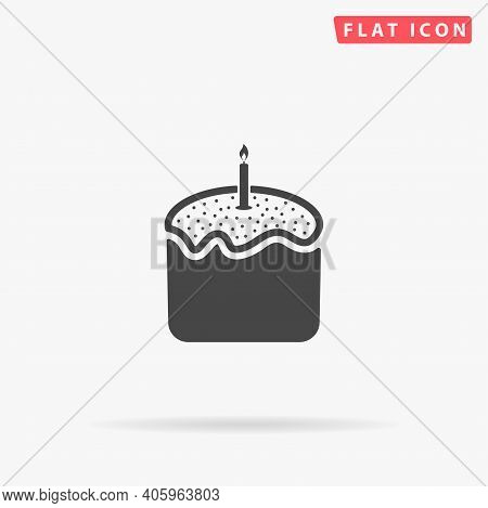 Easter Cake Flat Vector Icon. Hand Drawn Style Design Illustrations.