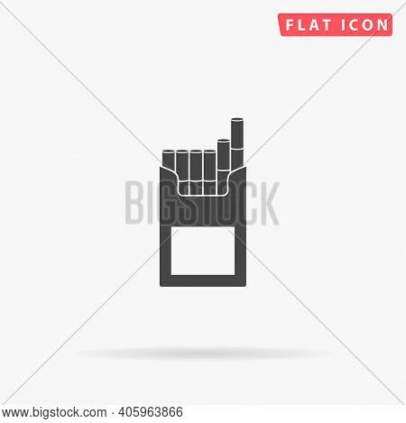 Cigarette Pack Flat Vector Icon. Hand Drawn Style Design Illustrations.