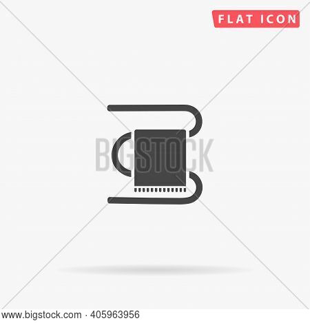 Heated Towel Rail Flat Vector Icon. Hand Drawn Style Design Illustrations.