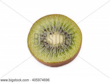 Ripe Kiwi Fruit Isolated On White Backgrounds. Fresh Kiwi Fruits.