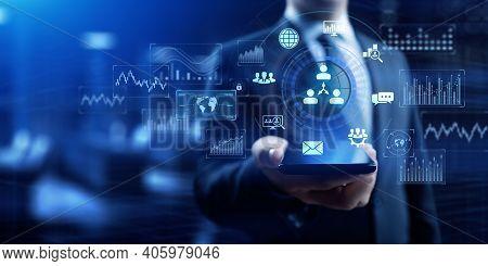 Crm Customer Relationship Management Business Sales Marketing Technology Concept.