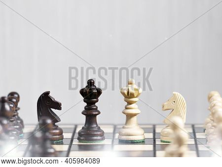 The Queens Gambit, Two Queens Next To Each Other, Making Decision And Take A Strategy, Victory In A