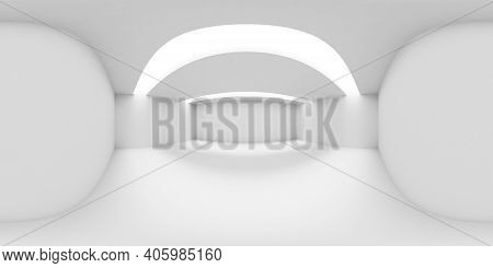 White Abstract Empty Room Hdri Environment Map With White Walls, Floor And Ceiling And With Lights I