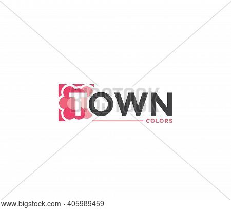Town Colors Company Business Modern Name Concept