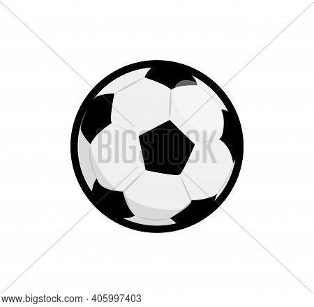 Soccer Ball Vector Flat Icon Element. Football Soccer Ball Icon