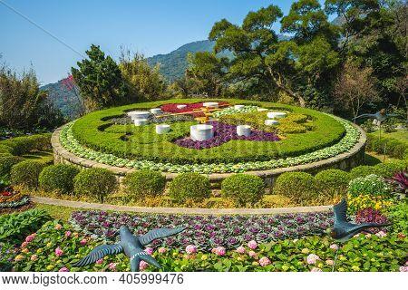 Flower Clock At Yangming Park In Taipei, Taiwan