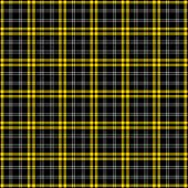 Seamless plaid in black, yellow, and white. poster