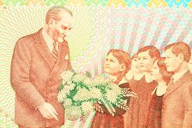 Ataturk with children