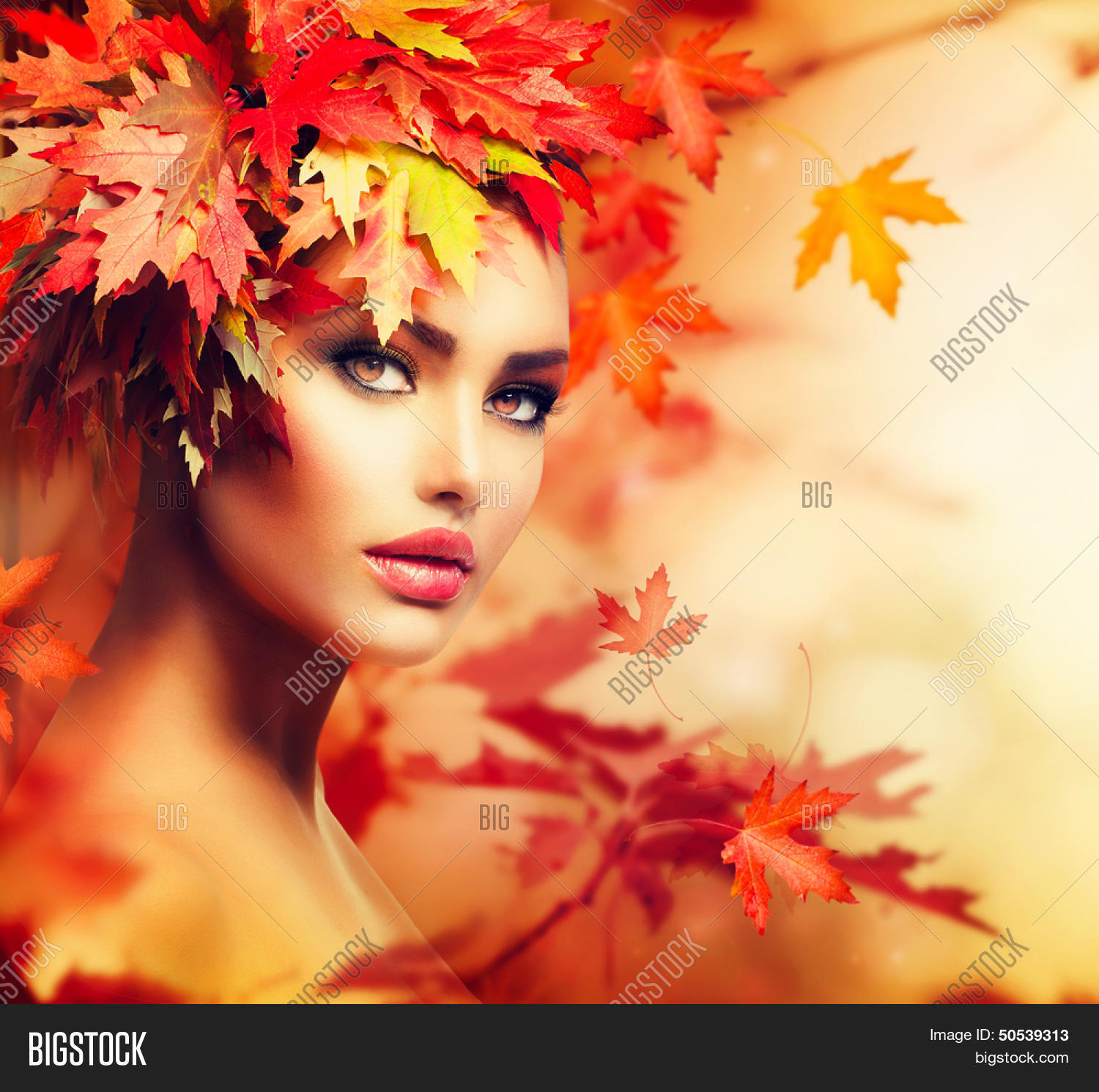 Autumn Woman Portrait Image Photo Free Trial Bigstock