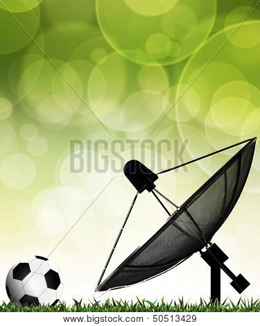 Satellite Dish For Communication And Technology