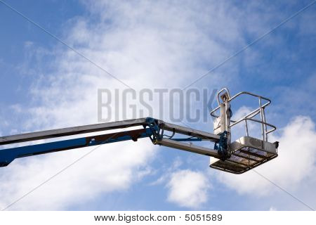 poster of A close up on an industrial elevated crane platform.
