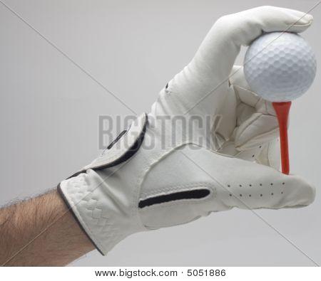Holding Golf Ball