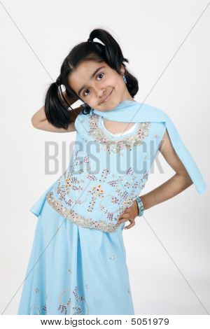 Little Girl In Traditional Dress