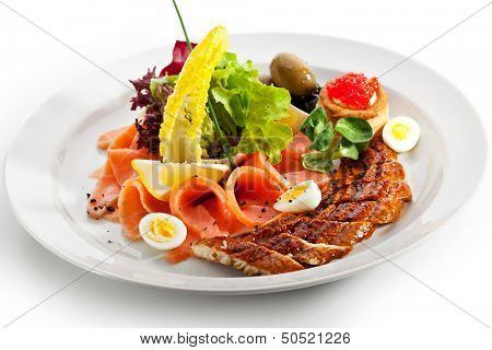 Fish Dish with Lemon and Eggs