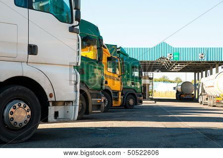Lorry trucks cars