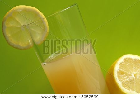 close up of diet and vitamin lemon juice poster