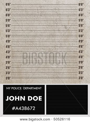 Police mugshot background. Add your text and photo