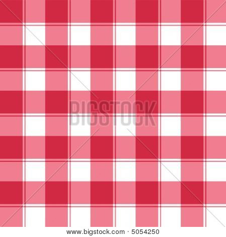 Traditional red and white checked seamless pattern background poster