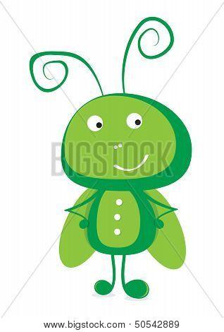 Grasshopper vector illustration.