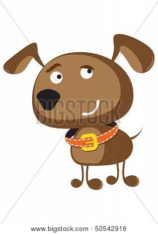 Funny dog illustration.