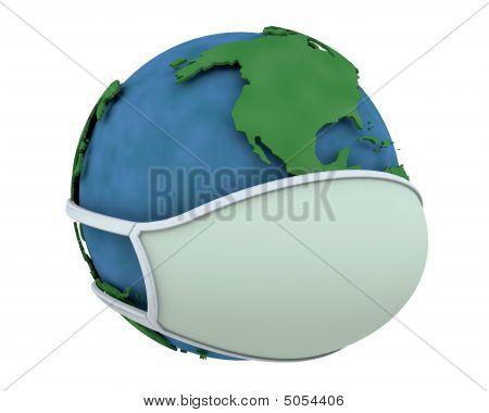 Globe In Face Mask