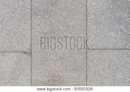 Granite Plates On A Sideway With Seams