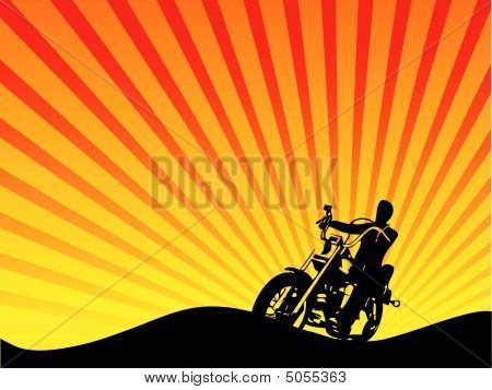 Motorcycle Rider Silhouette Vector