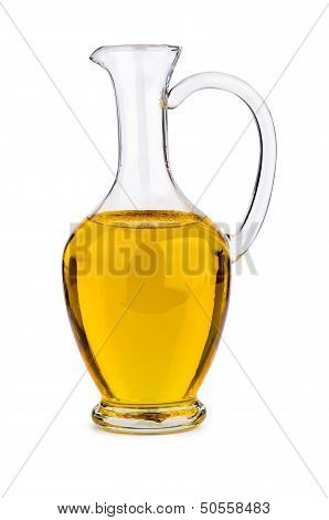 Sunflower seed oil in glass decanter