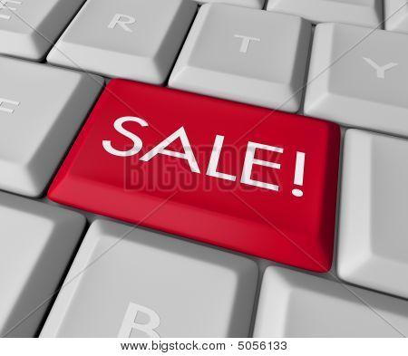 Clave de venta en el teclado de la computadora