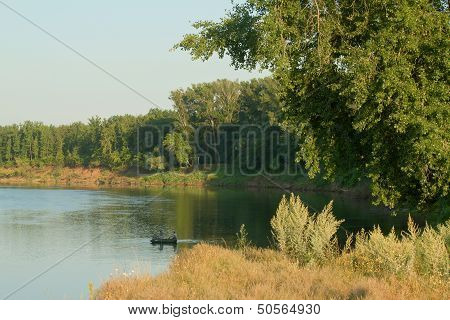 Boat On River