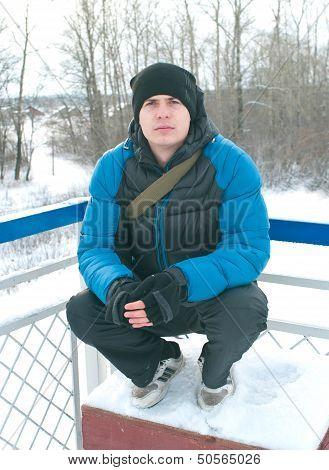 Men In Wintertime Outdoor