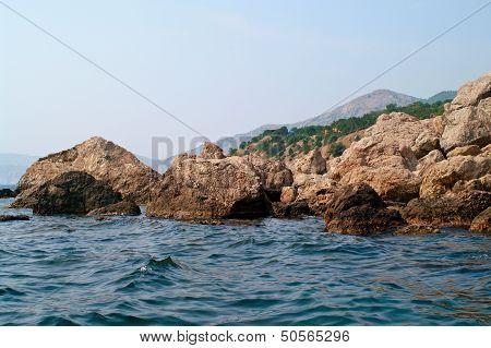 Black Sea And Rocks