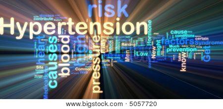 Hypertension Wordcloud Glowing