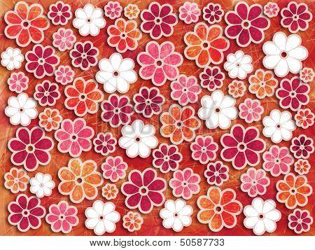 Bold Flower Art Pattern Background Element