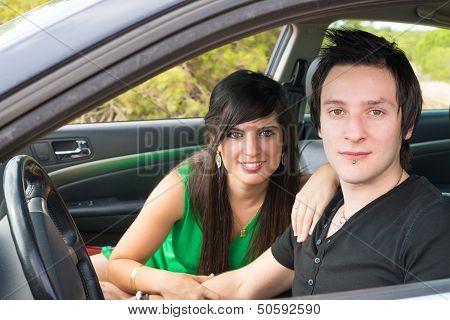 Couple Inside Car
