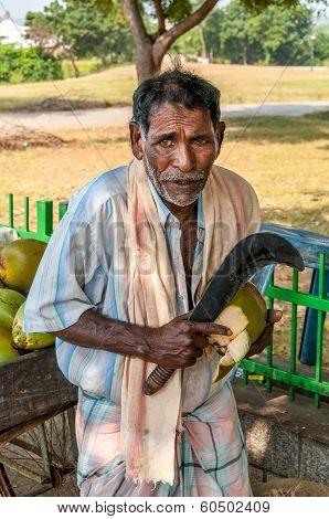 ...salesman Coconuts