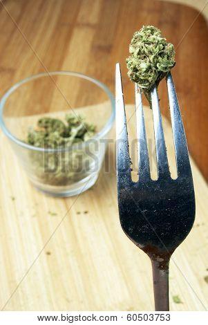 Edible Marijuana. Pot and Weed Edibles. Legalization of THC