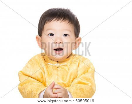 Chinese baby boy smile