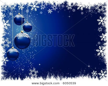 Snowy Christmas Baubles
