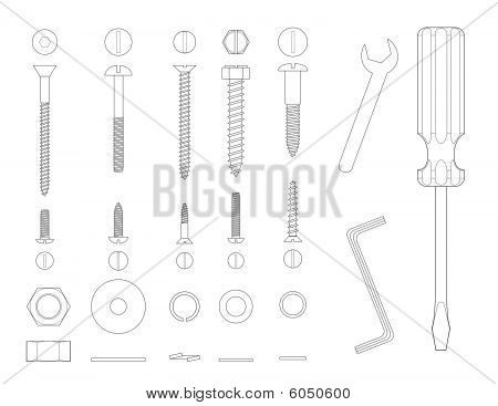 Screws and tools