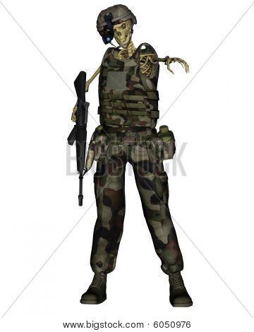 Undead Jungle Soldier Skeleton