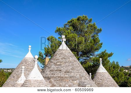 Cone Roofs Of A Trullo, Cisternino (italy)