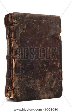 old weathered book isolated on white