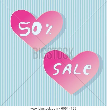 Heart Shaped Store Sale Stickers