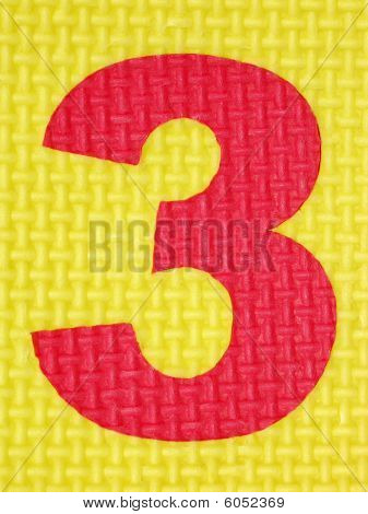 Rubber number 3 . Tread plate texture